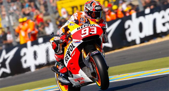 Márquez gana en Le Mans y suma su quinto triunfo consecutivo en el MotoGP