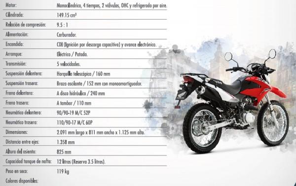 Ficha Honda XR 150