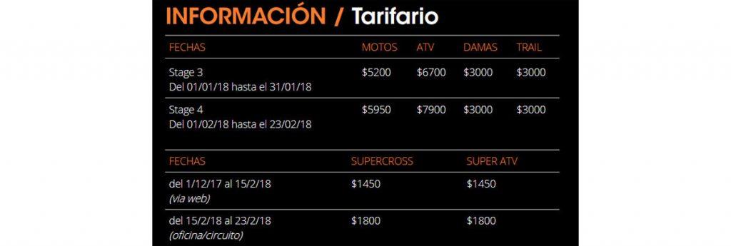 tarifario edv 2018