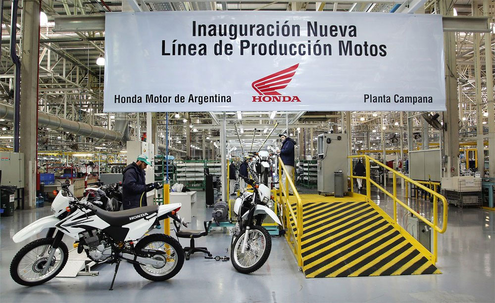 honda motos produccion