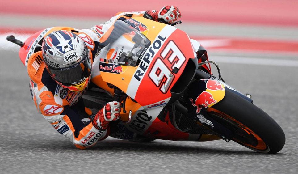 MotoGP: Marquez clasificó primero con la Honda en el Gran Premio de las Américas