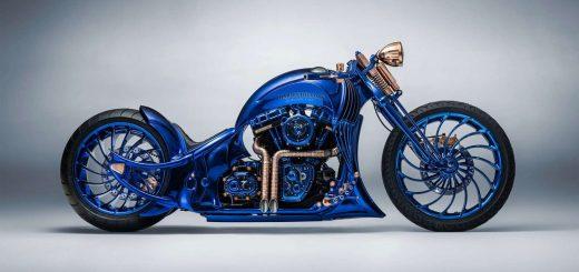 harley azul