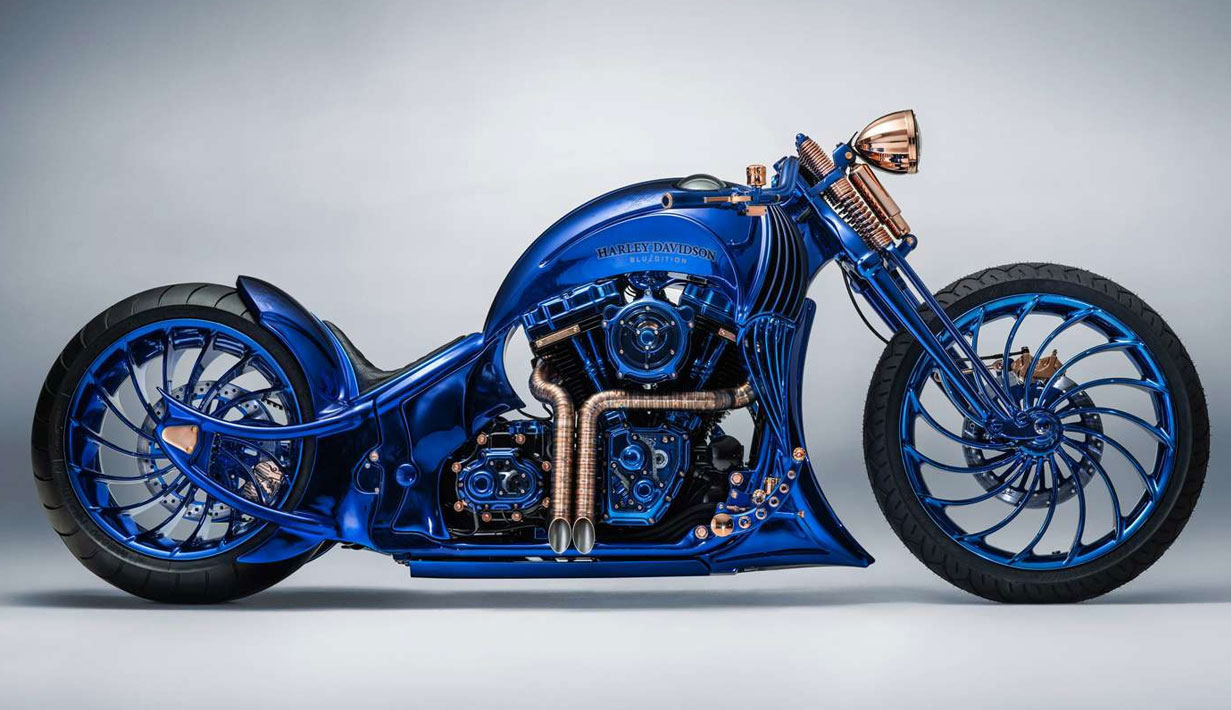 harley blue edition