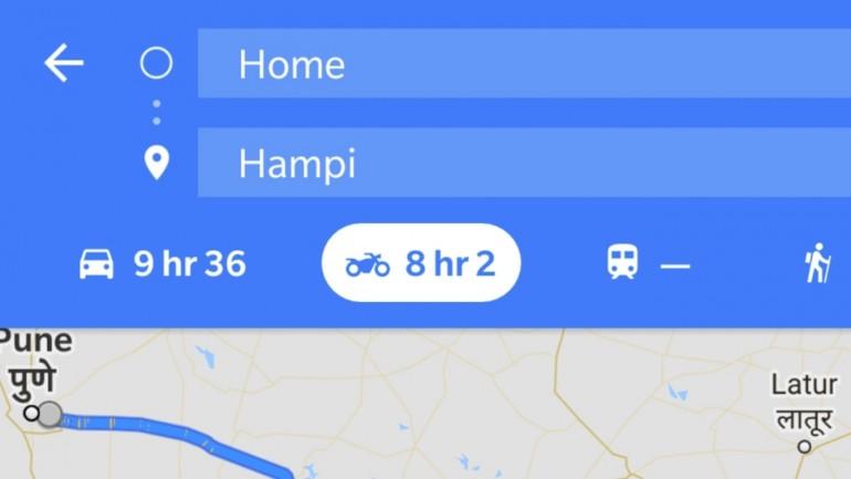 Google Maps versión para motos, sólo en Asia