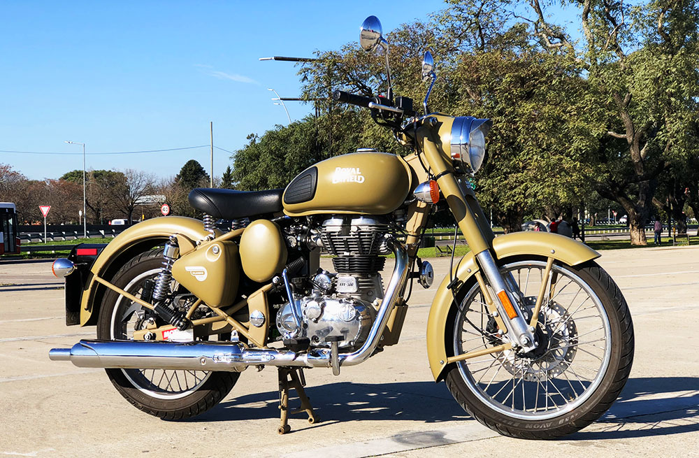 Test Ride Royal Enfield Classic 500 versión Desert Storm