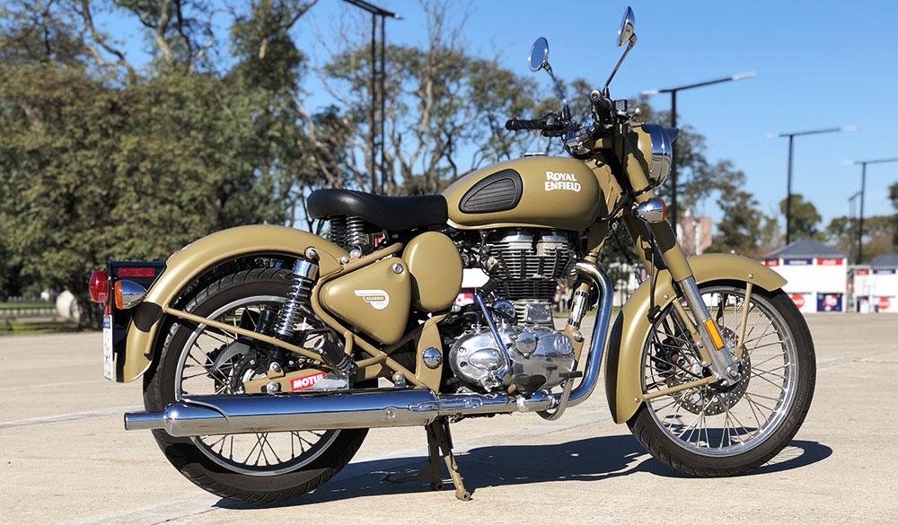 "Test Ride Royal Enfield Classic 500 versión ""Desert Storm"""
