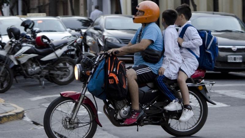 Los niños y los accidentes viales en moto
