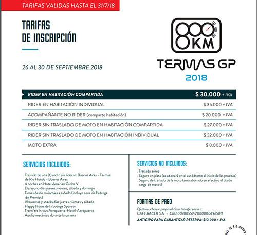 Se lanzó oficialmente el 800KM Termas GP 2018