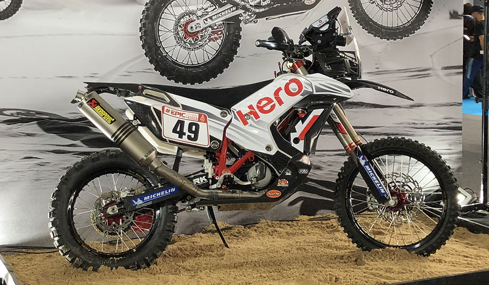 Hero en salon moto 2018