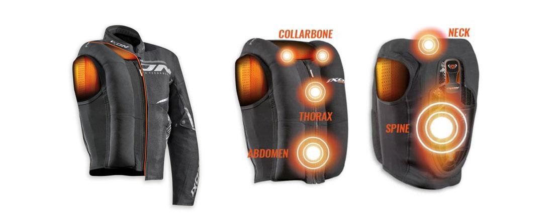 Ixon presentó el airbag electrónico IX-Airbag U03 para conductores de moto