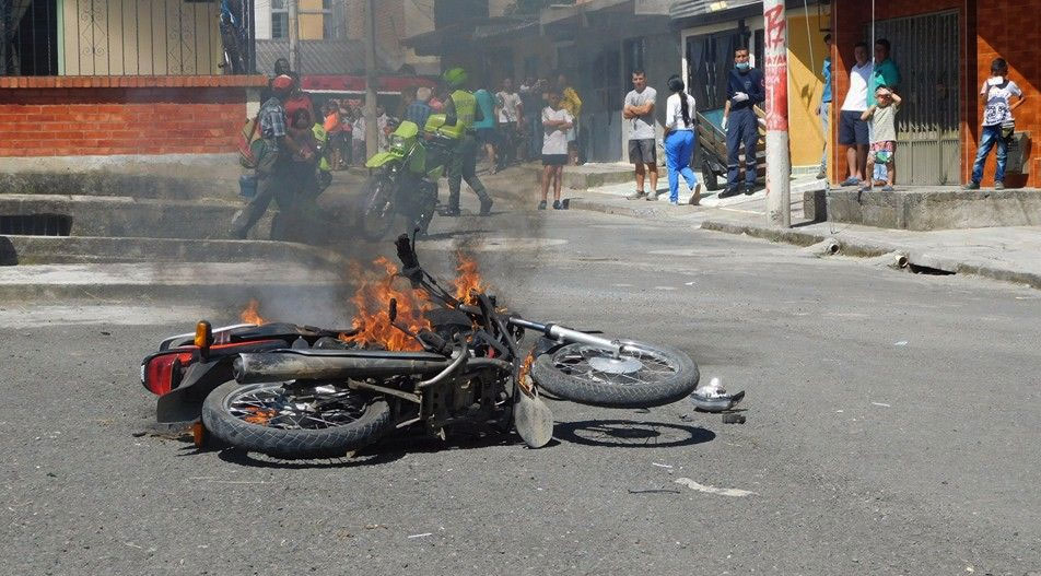 moto quemada