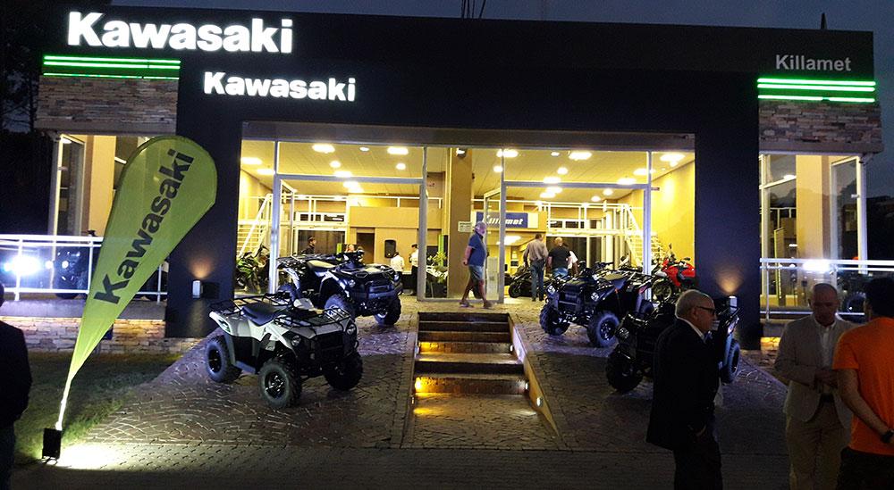 Kawasaki en Pinamar