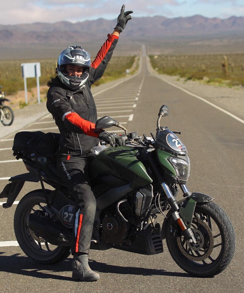 Bajaj Dominar D400 presente en el certámen 800km Ruta 40 Norte