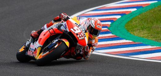 MotoGP en Termas: Márquez se quedó con el primer lugar escoltado por Rossi