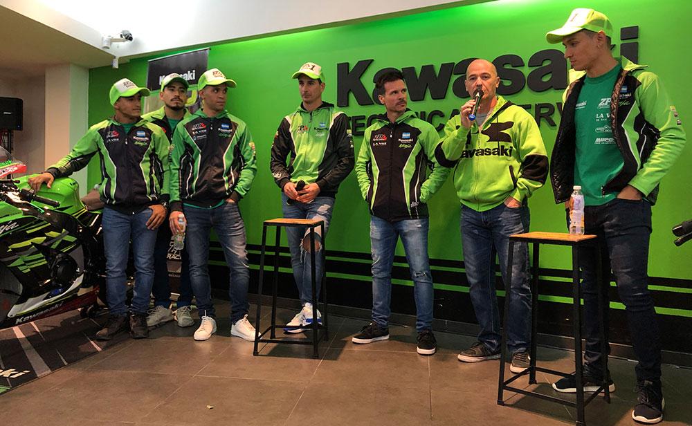 Presentación del equipo ZP Kawasaki Racing Team de Superbike en Navarro Motos