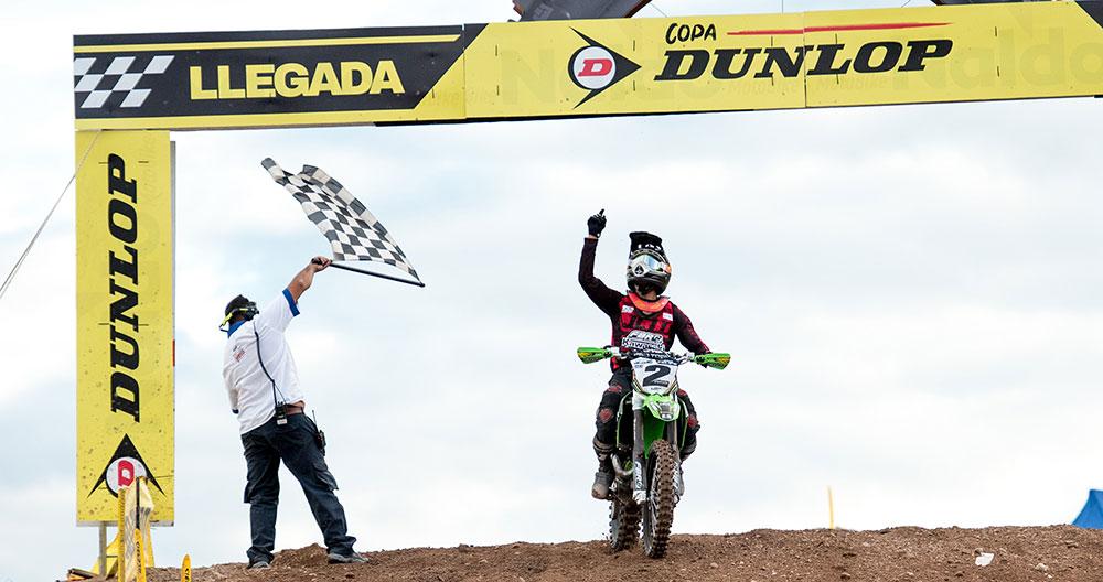 Kawasaki en el podio del Nacional de Motocross con el FBR Racing Team