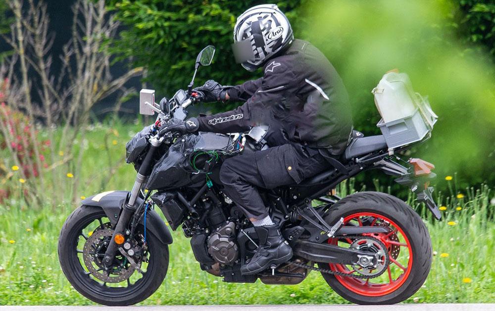Espiada: nueva Yamaha MT-07 para el 2021