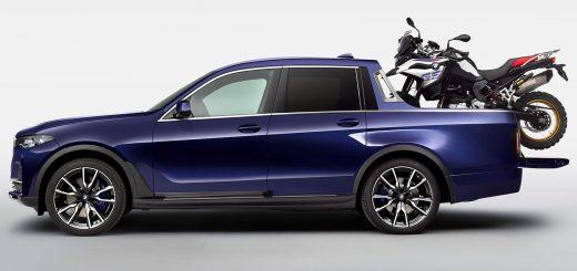 Una pick up BMW para llevar una moto BMW
