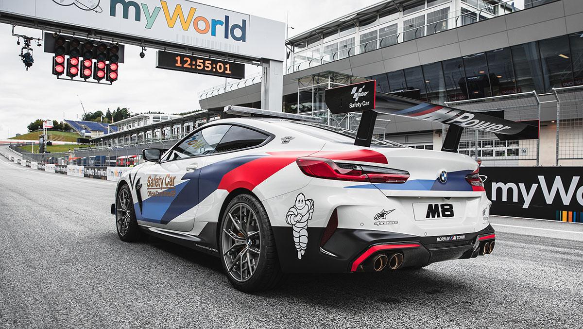 BMW M8 MotoGP Safety Car con 625 CV