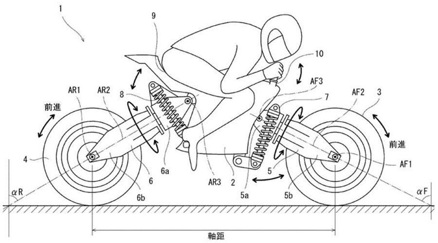 Kawasaki eléctrica de ruedas pivotantes
