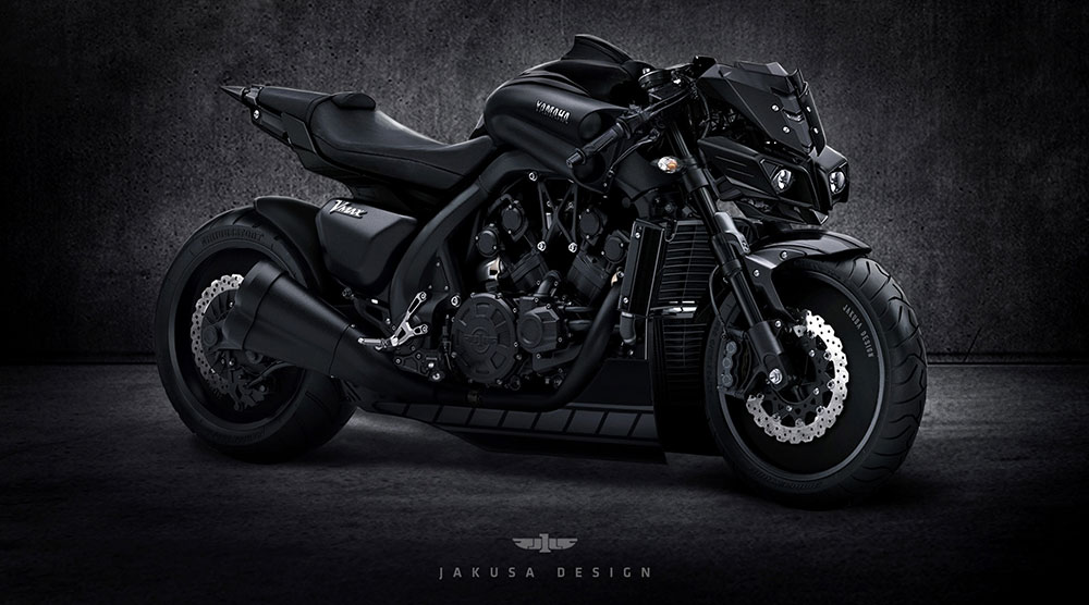 Yamaha VMax Stealth Concept by Jakusa Design