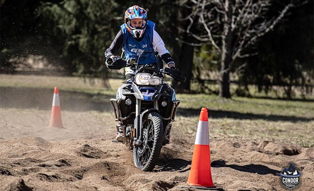 Virginia Guidetti, la rider que participó del GS Trophy Qualifier en Argentina