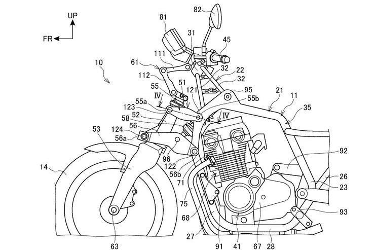 Honda patenta el sistema de suspensión delantera de la Gold Wing para motos más chicas