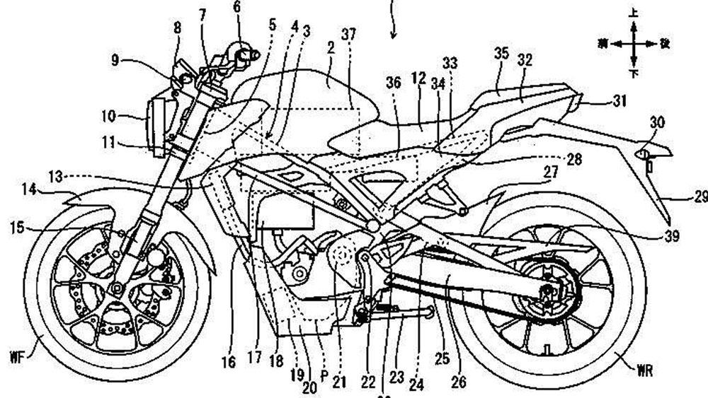 El futuro de las motos es eléctrico: Honda patenta una CB125R alimentada por baterías