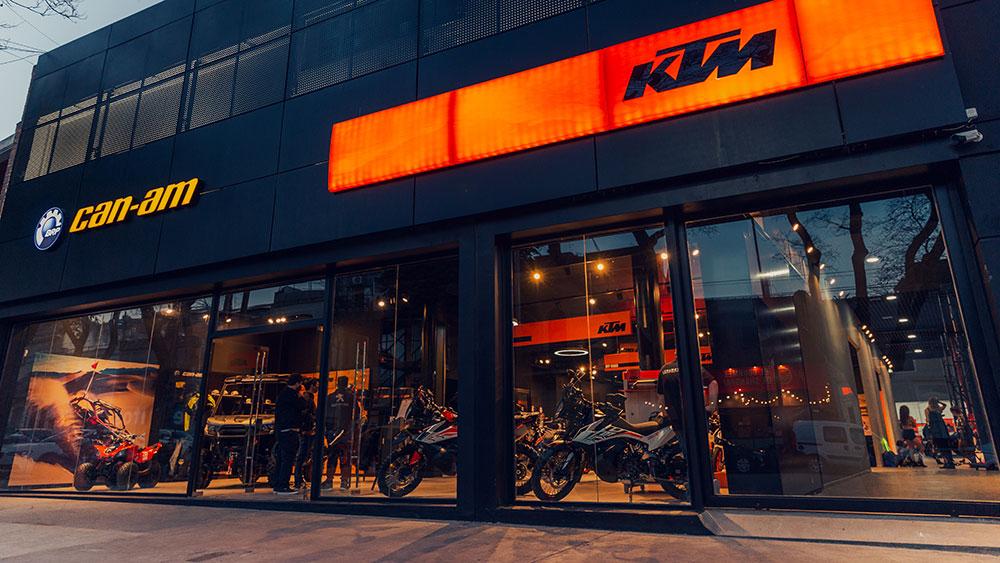 Nuevo concesionario KTM y Can Am en el porteño barrio de Palermo
